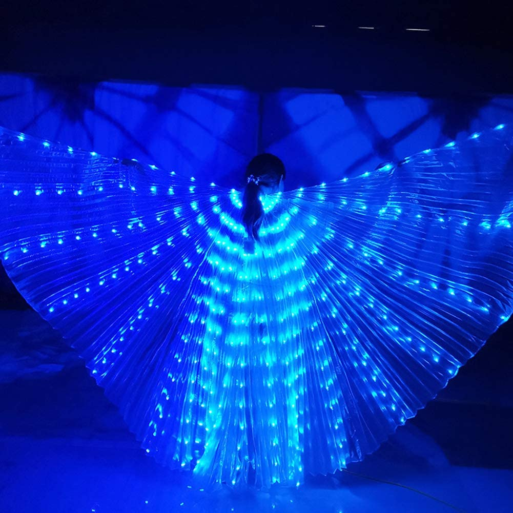 LED Butterfly Isis Wings LED Isis Wings Glow Light Up Belly Dance Costumes Zebery LED Wings for Adult