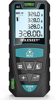 Medidor Laser de Distancia 100M, Mileseey Metro Laser IP54 con 2 Niveles de Burbuja, Medidor de Distancia Digital Portátil...