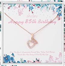 85th Birthday Gifts for Women - 925 Sterling Silver Women's Crown Love Heart Necklace, 85 Year Old Birthday Gifts for Women, Funny 85th Birthday Gifts for Women