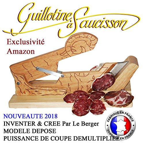 INVENTER & CREE Par Le Berger - Ghigliottina per salami, affettatrice Petite Merveille e coltello in omaggio, potenza di taglio moltiplicata