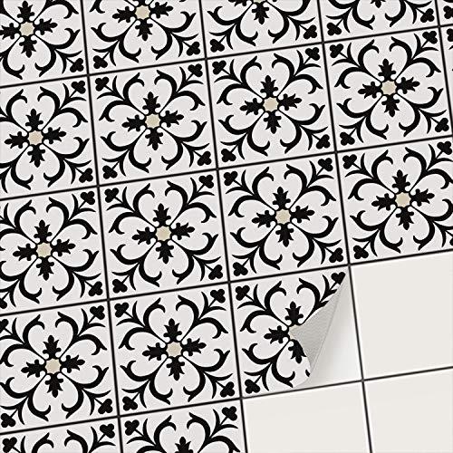creatisto Mosaikfliesen Fliesenaufkleber Fliesenfolie - Aufkleber Sticker für Wandfliesen I Stickerfliesen - Mosaikfliesen für Küche, Bad, WC Bordüre (20x20 cm I 54 -Teilig)