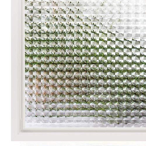 TFOOD Raamfolie, bescherming tegen gegevens en glas, esthetische statische 3D-kunststicker, decoratie, uv-bescherming op keuken, badkamer, kantoor, zelfklevende folie aanbrengen 30x200cm