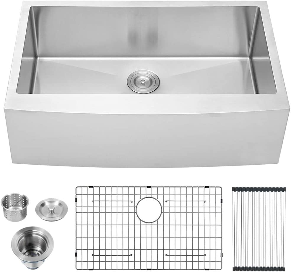 OFFicial store Lordear 36 inch Farmhouse Kitchen Sink Deep Dallas Mall Apron Front 16-Gauge