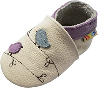 Yalion Soft Sole Leather Baby Shoes First Walking Moccasins Infant Toddler Little One Pre-Walker