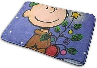 SAWWFOWDS Door Mat Charlie Brown Christmas Doormat for Indoor, Outdoor, Bathroom, Kitchen, Bedroom, Entryway 15.7X 23.6