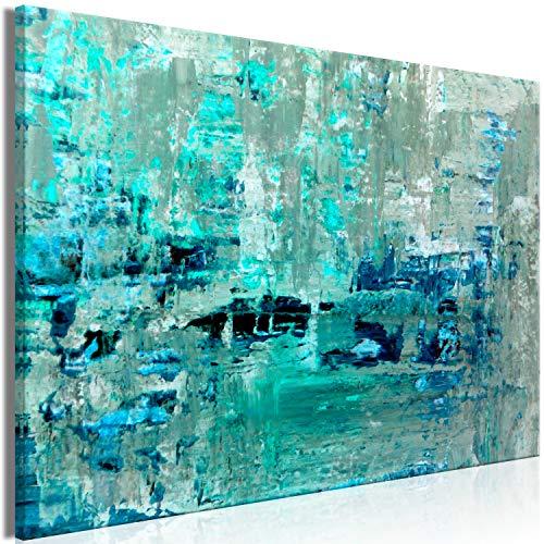murando Cuadro en Lienzo Abstracto 120x80 cm 1 Parte Impresión en Material Tejido no Tejido Impresión Artística Imagen Gráfica Decoracion de Pared Azul Turquesa a-B-0092-b-a