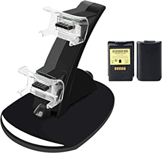 Xbox 360 Controller Charging Dock with 2pcs Rechargeable Bat