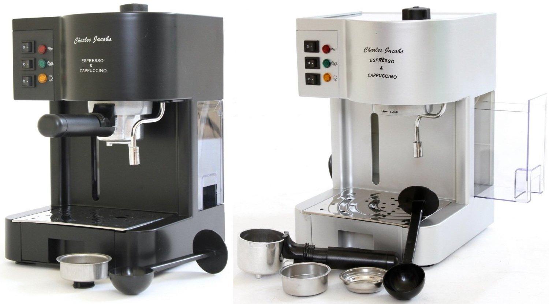 Charles Jacobs Espresso Makinesi, 15 bar pompa basıncı, siyah COFFE-MACHINE:  Amazon.com.tr
