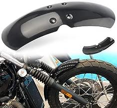 Three T Motorcycle Short Front Fender,Mudguard Compatible with 2001-2016 Triumph,Bonneville/T100/Scrambler/Thruxton 900,Black