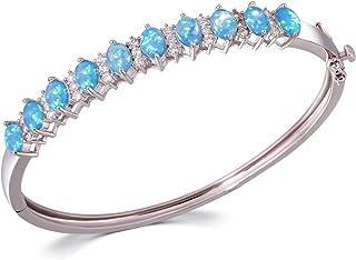 أساور أوبال للنساء الخرزة سوار سوار إسورة المرأة أوبال مجوهرات هدية 8.3 بوصة من سييلي