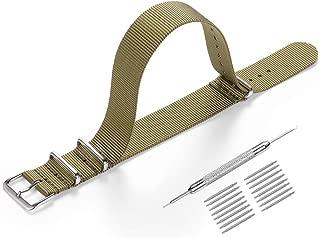 Correas para Relojes Nylon,Correa de Reloj de NATO 20mm 22mm para Mujer y Hombre con Hebilla de Acero Inoxidable