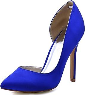 ElegantPark Women's Pointed Toe High Heel D'Orsay Satin...