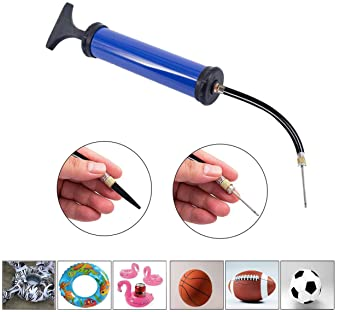 TONUNI Portable Air Pump,Ball Pump Inflator Kit with Needle,Nozzle, Extension Hose for Soccer Basketball Football Vol...