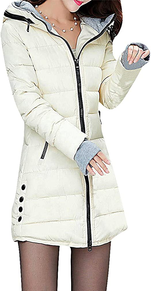 USR Women 1 Color Zip Up with Regular Don't miss the campaign dealer Fingerle Quilted Down Long Jacket