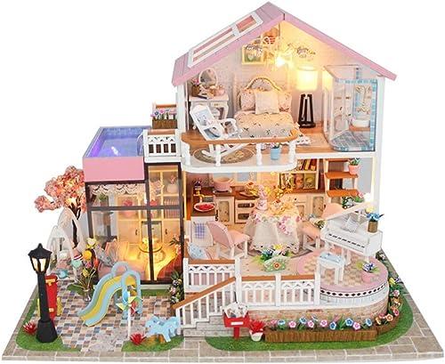 de moda AHWZ DIY casa de muñecas Conjunto Modelo arquitectónico Mejor Mejor Mejor cumpleaños Niños y niñas  auténtico