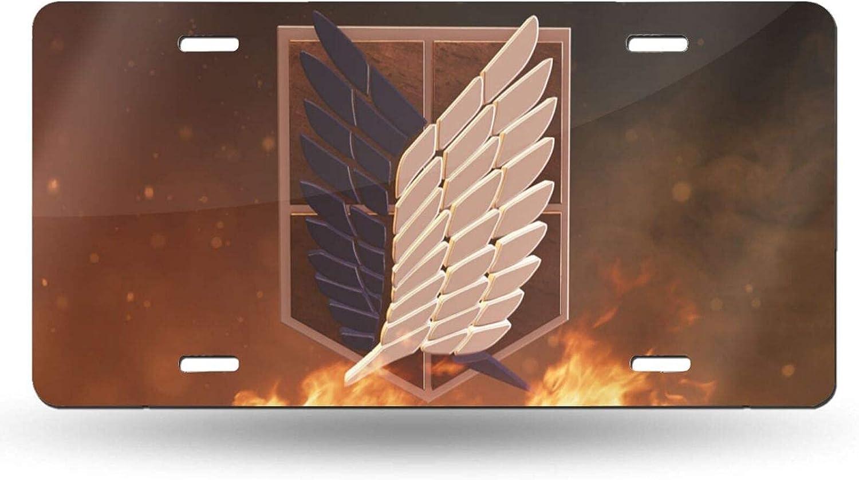Wahom Attack On Titan Car New life License Plate Holder Inch X Finally popular brand Lic 6