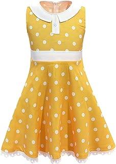 Girls Yellow Dress Toddler for Little Girls Halloween Cosplay Costume