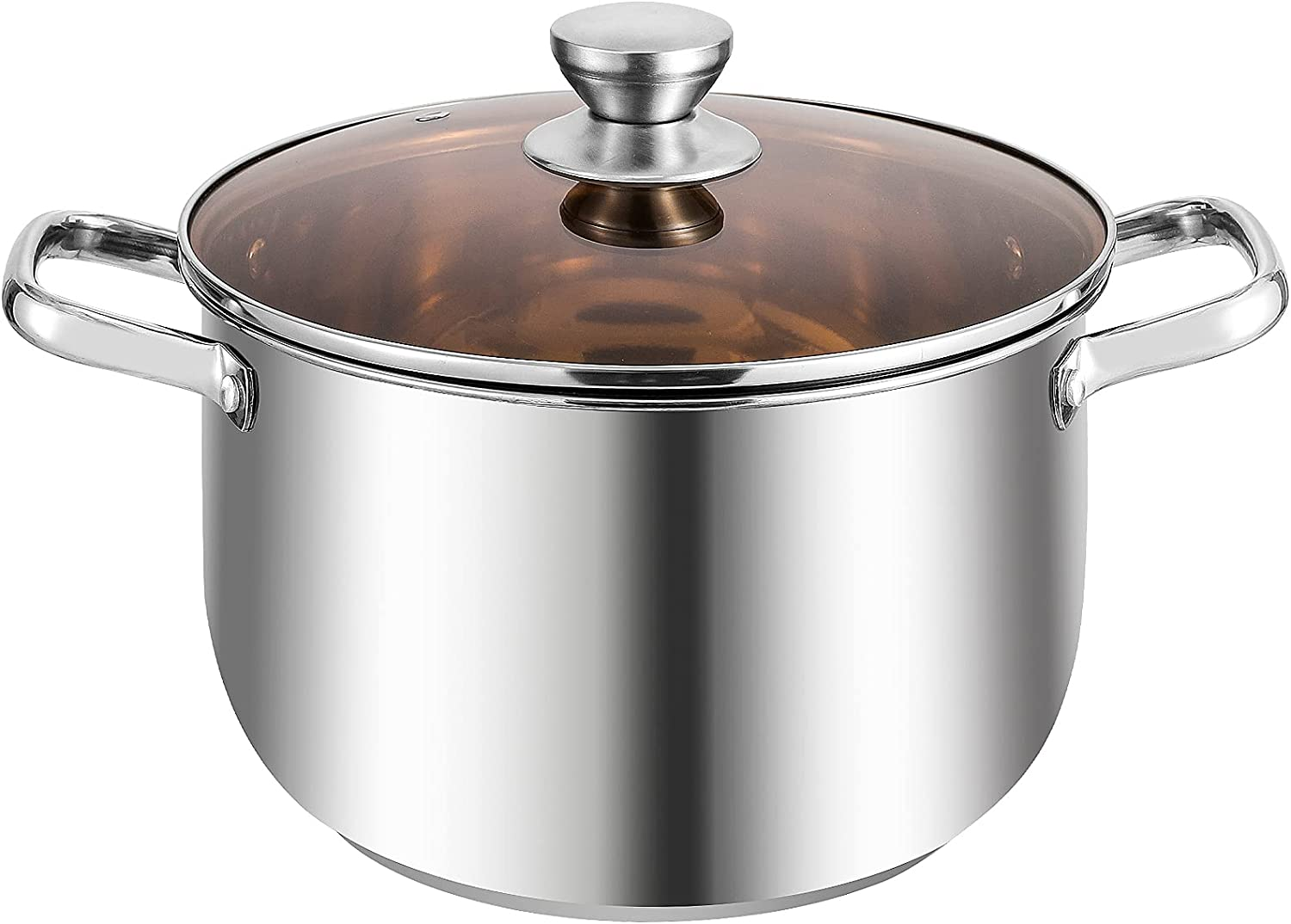 8 QT Soup Deluxe Pot Stainless Pa San Diego Mall Lid Saucepot Steel Stockpotwith