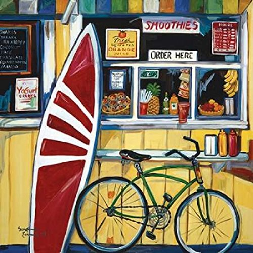 Surf Shack Poster Print by Suzanne Etienne (12 x 12)