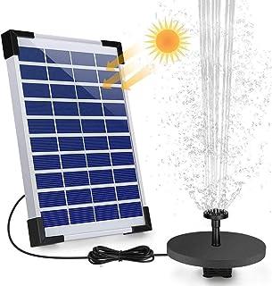 DMKJFFF 5W Solar Fountain Pump, Solar Water Pump Floating Fountain, with Different Water Style Sprayers, for Bird Bath, Fi...