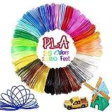 Pomatoy 3D Pen PLA Filament 35 Colors, Total 1120 Feet 1.75mm Filament Used for 3D Pens, Each Color 32 Feet
