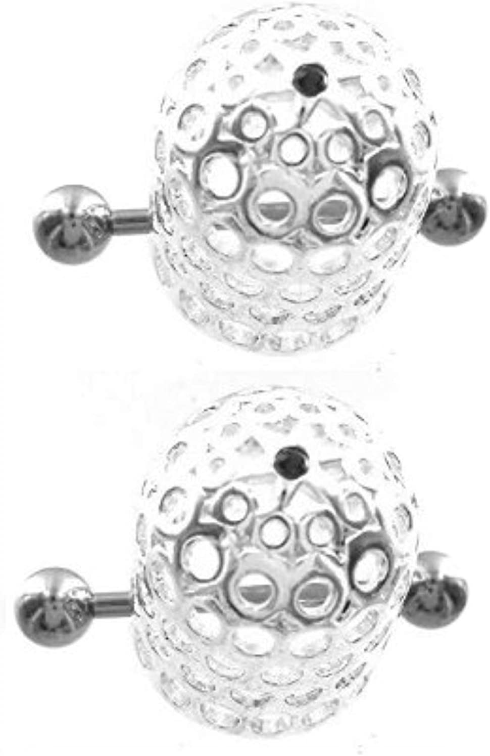Body Accentz Nipple Ring Bars 14g 5/8'' by 3/4'' timble Style Nipple Ring Barbell