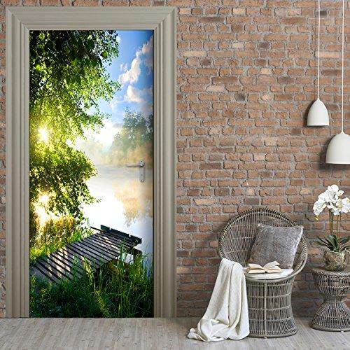 StickerProfis Türtapete selbstklebend TürPoster - Steg AM See - Fototapete Türfolie Poster Tapete