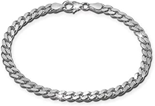Silverly Bracelet Cuir Noir Pour La Gravure Hommes Argent Sterling .925