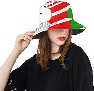 WYYWCY, Sombrero de Playa Niños Gato Lindo En calcetín de Navidad Verano Unisex Pesca Sun Top Bucket Sombreros para Adolescentes Mujeres Gorra de Pescador Deporte al Aire Libre Pescado Sombrero para Hombre