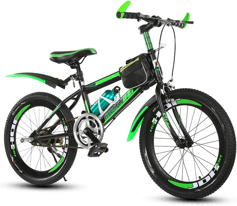 Kids' BikesMountain Bikes 18 20 22 '' Kids' Bikes Outdoor Single Speed Mountain Bike Special Saddle High Carbon Steel Frame Skid Resistant Tire,22inch