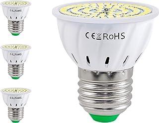 DMFSHI Bombillas LED E27, Bombillas LED para Focos, Bombillas de Bajo Consumo de 7W con Rosca, Luz Blanca Neutra 500 lm, Angulo de Haz de 180 °, sin Foco Estroboscópico, Paquete de 4 (Frio)