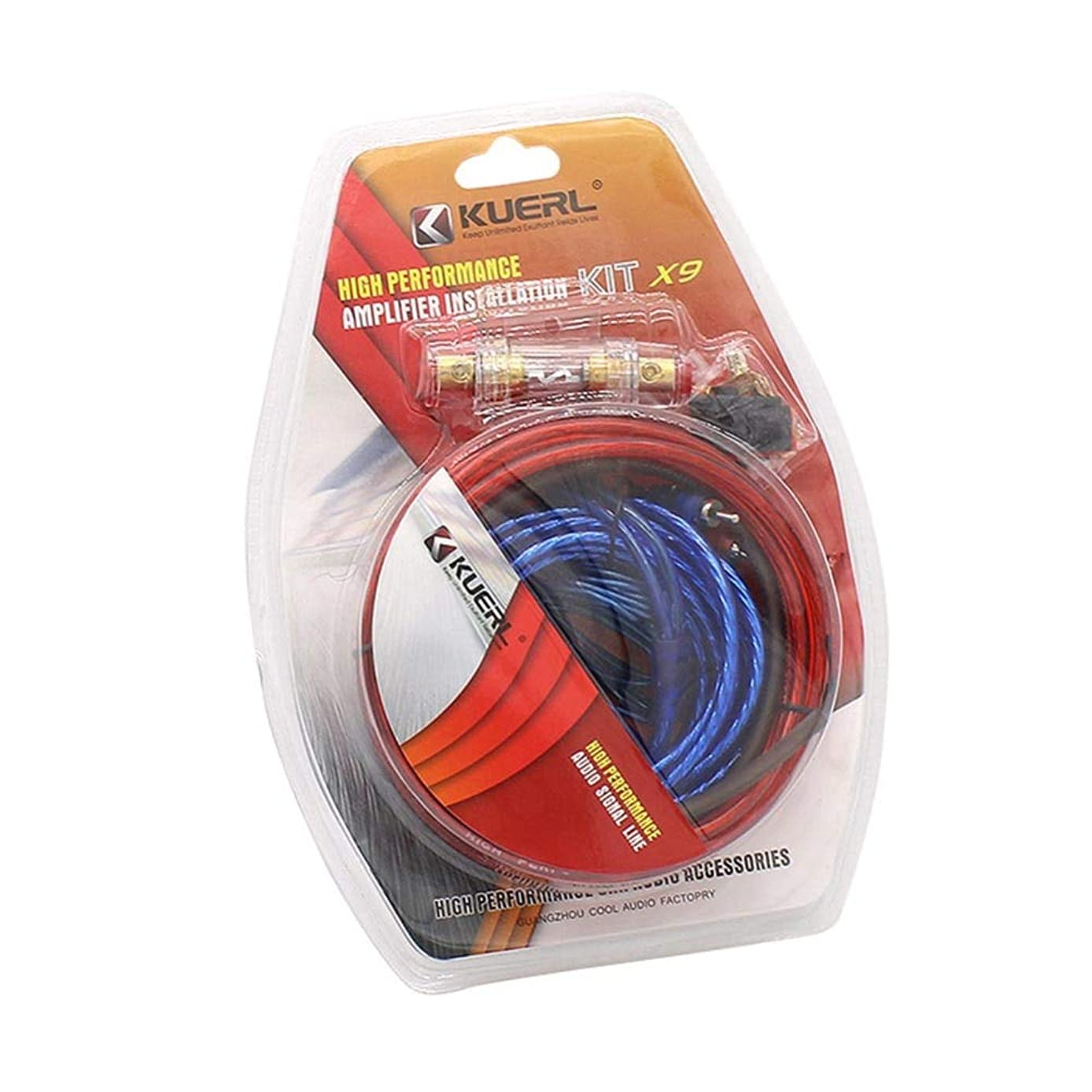 Davitu Car Power Amplifier Installation Kit 8 Gauge Automobiles Speaker Woofer Subwoofer Cables Audio Wire Wiring Line with Fuse Suits