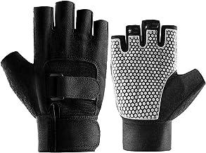 Abaodam Fitness Handschoenen Polsbeschermers Halve Vinger Handschoenen Sportapparatuur Gewichtheffen Handschoenen Training...