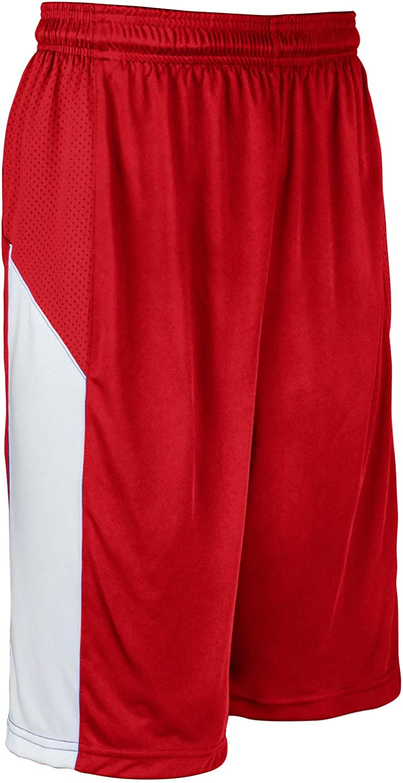 Under blast sales favorite CHAMPRO Charge Polyester Basketball X-Large Scarle Adult Short