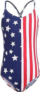 Girls Two Piece Bikini Swimsuits Set American Flag Bathing Suit Kids Beach Swimwear 3-16 Years