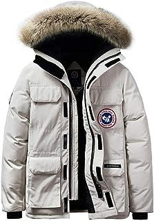 Sijux Men's Hooded Cotton Jacket Puffer Coat Faux Fur Winter Thicken Warm Windbreaker Parka Jackets Outerwear