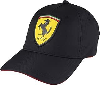 Formula 1 Motorsports Black Scudetto Carbon Polyester Hat Cap Adjustable
