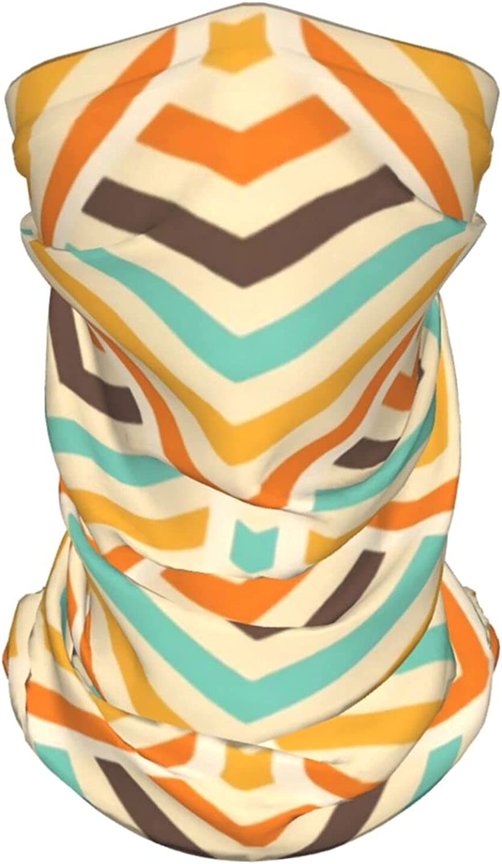 Retro Pattern Neck Gaiter Multipurpose Headwear Ice Silk Mask Scarf Summer Cool Breathable Outdoor Sport 2 Pcs