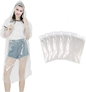SUNNEY Desechables Lluvia Poncho, Chubasquero, Impermeable