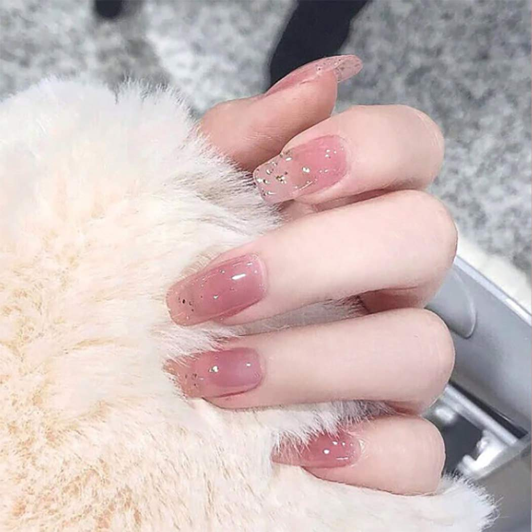 Ibliss Square Press on Nails Pink Ranking TOP9 Fake Long Cover Full shop N Shimmer