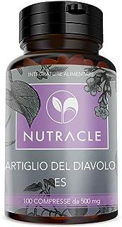 NUTRACLE Garra del Diablo Tabletas a base de extracto seco de Harpagófito. 100 comprimidos de 500 mg, suministro para 25 días