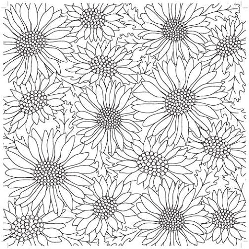 Kaisercraft Kaisercolour Perfect Bound Coloring Book - Ever Bloom |