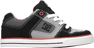 DC Shoes Boys Shoes Pure - Low Shoes - Boys - US 4.5 - Black Black/Red Plaid US 4.5 / UK 3.5 / EU 35.5