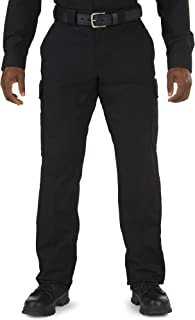 black police trousers with crease