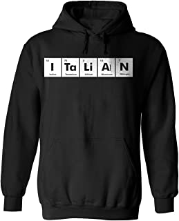 ITALIAN Periodic Table Chemistry Funny Adult Black Hoodie for Men and Women x3 2X