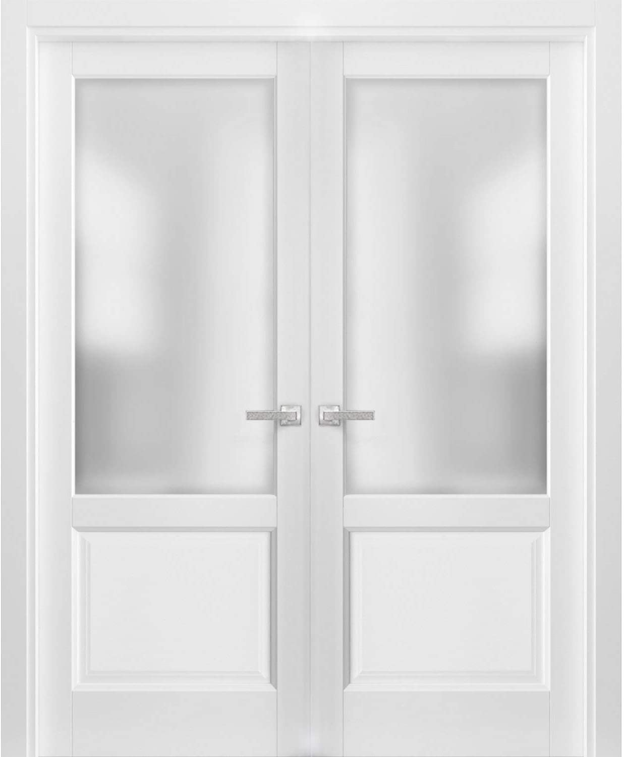 French Cheap SALE Start Double Panel Lite Doors 48 Hardware x 80 with 22 Lucia Quality inspection