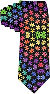 Gentleman Tie - Colorful Autism Awareness Necktie, Wedding Business Graduation Party Dress Ties
