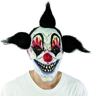 Amakando Cagoule Clown m/échant Masque Clown Tueur Masque Complet arlequin m/échant Masque de Clown d/éguisement Mascarade dhalloween Effrayant bouffon Accessoire Costume de bouffon
