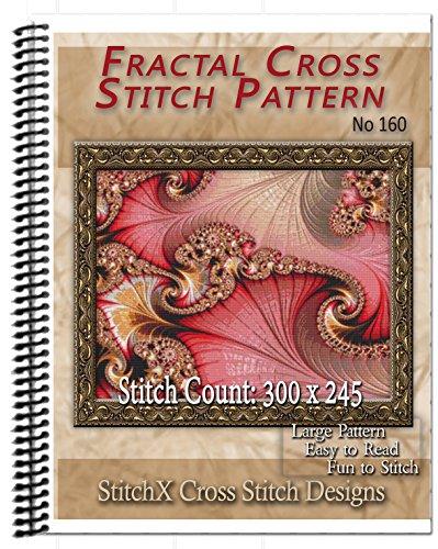 Fractal No. 160 Cross Stitch Pattern - Spiral Bound Book