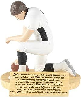 Dicksons Hear Our Prayer Kneeling Football Player 5 x 5.5 Resin Stone Tabletop Figurine